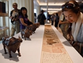 Cultural products of the Palace Museum displayed on Royal Caribbean's cruise ship in China's Tianjin