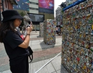 Artworks made of compressed cans displayed in streets of Taipei
