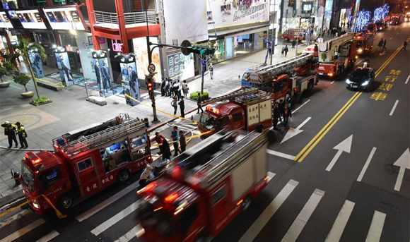 1,000 evacuated after fire at Taipei cinema