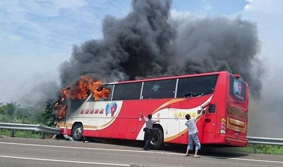 24 mainland tourists killed in Taiwan coach fire