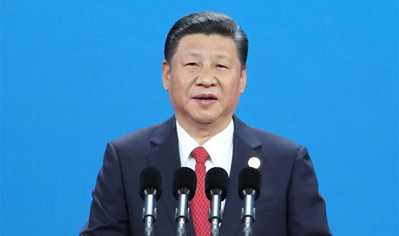President Xi delivers speech at opening ceremony of Belt and Road forum