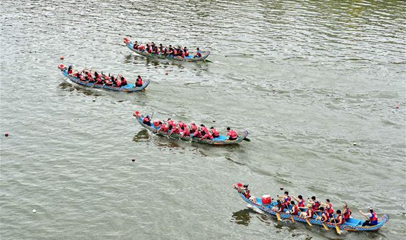 Taipei holds dragon boat race to celebrate Duanwu Festival